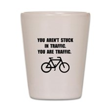 Bike Traffic Shot Glass