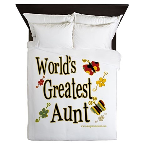 Aunt Butterflies Queen Duvet