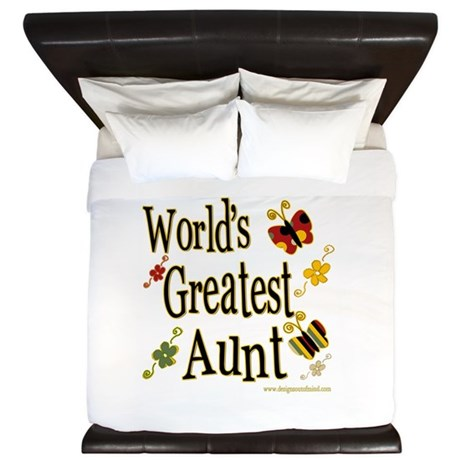 Aunt Butterflies King Duvet