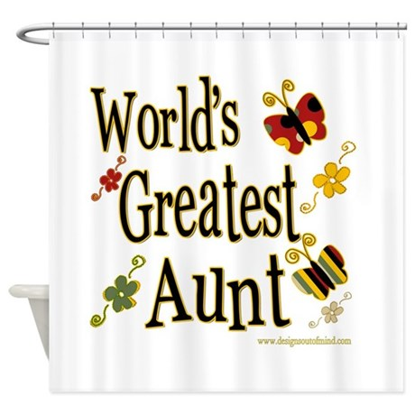 Aunt Butterflies Shower Curtain