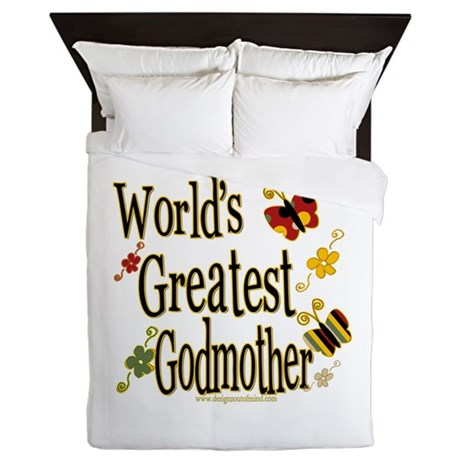 Godmother Butterflies Queen Duvet