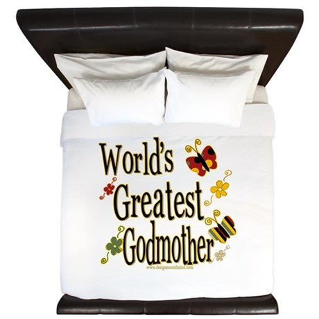 Godmother Butterflies King Duvet