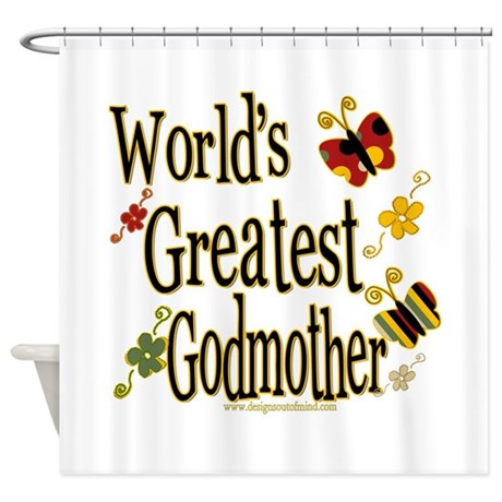 Godmother Butterflies Shower Curtain