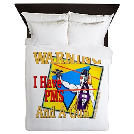 WARNING PMS Queen Duvet