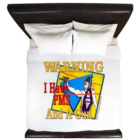 WARNING PMS King Duvet