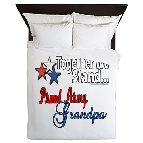 Army Grandpa Queen Duvet