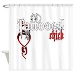Tattooed Chick Shower Curtain
