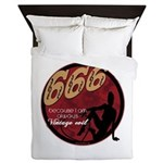 666 Devilish Sign Female Queen Duvet