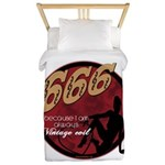 666 Devilish Sign Female Twin Duvet