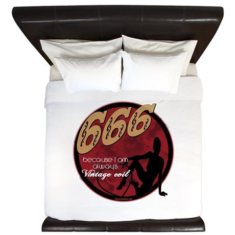 666 Devilish Sign Female King Duvet