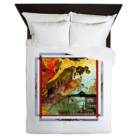 Demonic Illustration Queen Duvet