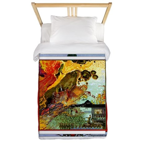 Demonic Illustration Twin Duvet