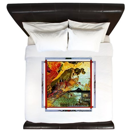 Demonic Illustration King Duvet
