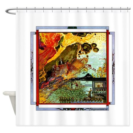 Demonic Illustration Shower Curtain