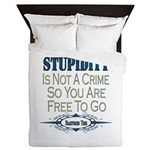 Stupid Criminals Queen Duvet