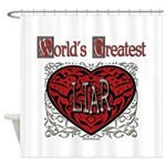 World's Best Liar Shower Curtain