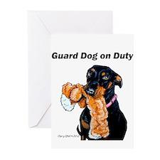 Guard Dog Doberman Greeting Cards (Pk of 20)