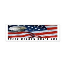 THESE COLORS DON'T RUN Car Magnet 10 x 3
