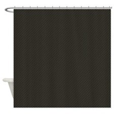 Carbon Fibre pattern Shower Curtain