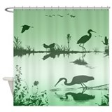 Morning on the water Shower Curtain