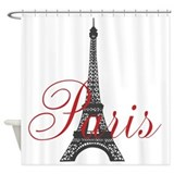 Paris Always (rouge) Shower Curtain