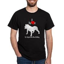 Alapaha Blue Blood Bulldog Black T-Shirt