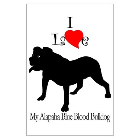 Alapaha Blue Blood Bulldog Large Poster