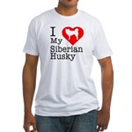 I Love My Siberian Husky Fitted T-Shirt