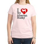 I Love My Siberian Husky Women's Light T-Shirt