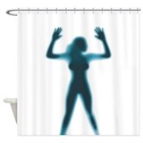 Woman in Shower Curtain
