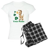 Personalized Irish Giraffe pajamas