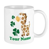 Personalized Irish Giraffe Small Mug