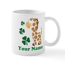 Personalized Irish Giraffe Small Mug