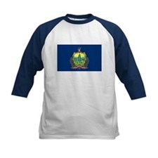 Vermont State Flag Kids' Baseball Jersey
