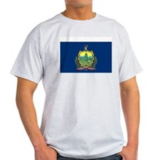 Vermont State Flag Grey T-Shirt