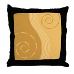 Trendy Abstract Throw Pillow