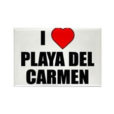 Cute Playa del carmen Rectangle Magnet (100 pack)