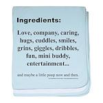 My ingrediants baby blanket