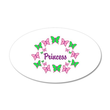 Princess Pink and Green Butte 38.5 x 24.5 Oval Wal