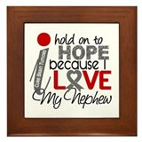 I Hold On To Hope Brain Tumor Framed Tile