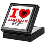 I love Albanian boys Keepsake Box