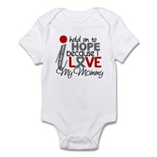 I Hold On To Hope Brain Tumor Infant Bodysuit