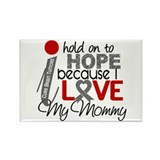 I Hold On To Hope Brain Tumor Rectangle Magnet (10