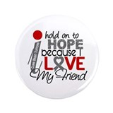 "I Hold On To Hope Brain Tumor 3.5"" Button (100 pac"