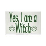Yes, I am a Witch Rectangle Magnet