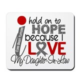 I Hold On To Hope Brain Tumor Mousepad