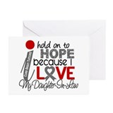 I Hold On To Hope Brain Tumor Greeting Cards (Pk o