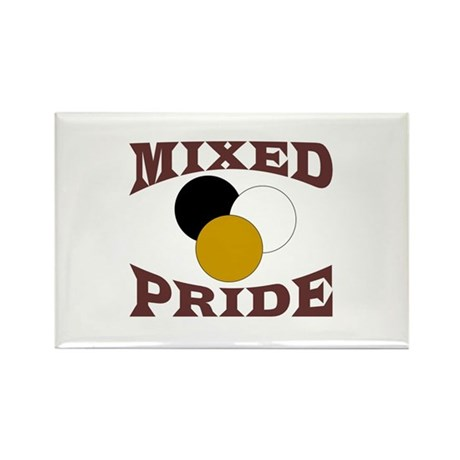 Mixed/ Multiracial Pride Rectangle Magnet (100 pac