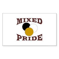 Mixed/ Multiracial Pride Rectangle Decal