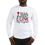 I Hold On To Hope Brain Tumor Long Sleeve T-Shirt